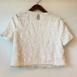 Forever 21 Tops - White sequin Crop Top - Forever 21 - size M